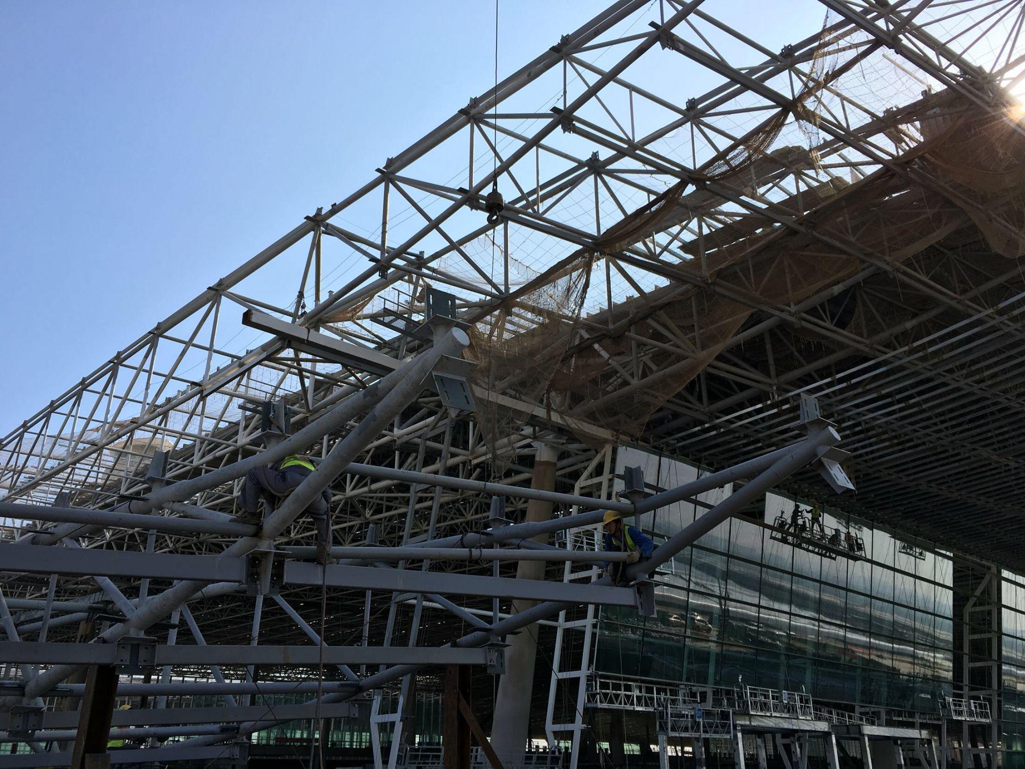 【独家·见微】天河机场t3航站楼主体结构基本完工