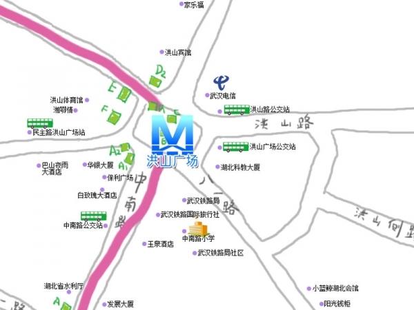 武汉地铁二号线路线图