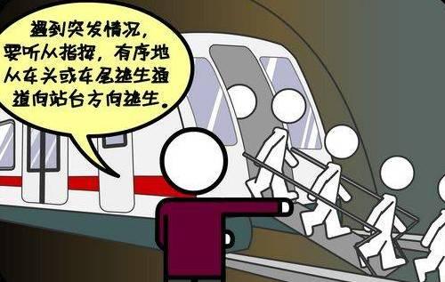 卡通地铁简笔画
