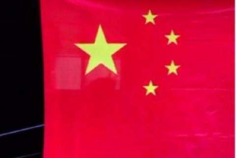 中国国旗旗台简笔画